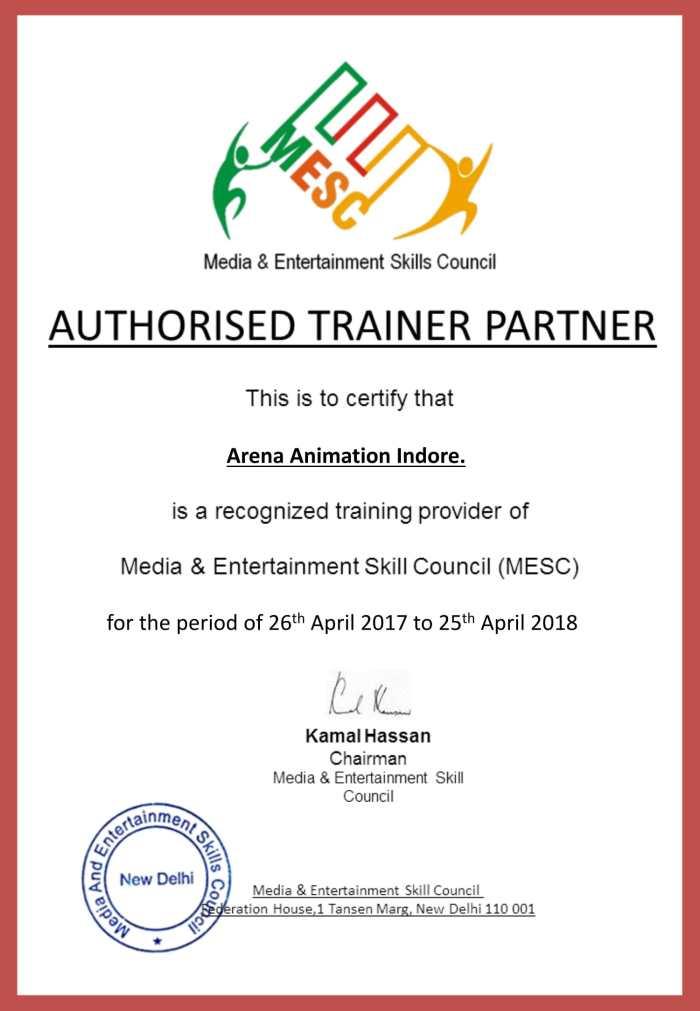 Mainstream Affilation- Certificate - Indore ARENA-1